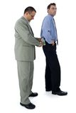 Giving bribe. Businessman or politician holding his pocket for bribe Royalty Free Stock Photos