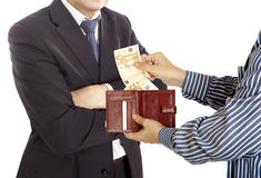 Giving a bribe Stock Photos