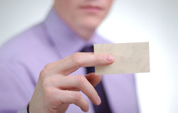 Giving business cards Stock Image