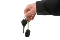 Giving car keys Royalty Free Stock Photo