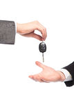 Giving car keys Stock Image