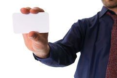 Giving a card Stock Photo