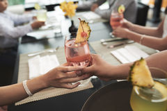 Giving cocktail Stock Images