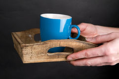 Giving A Cup Of Coffee Stock Image