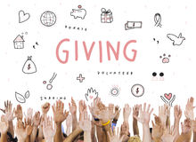 Giving Donations Charity Foundation Support Concept