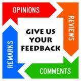 Giving feedback stock illustration