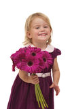 Giving Flowers Royalty Free Stock Images