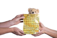 Giving gift Stock Photography