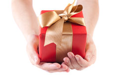 Giving a gift stock photography