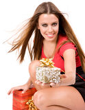 giving gift box Royalty Free Stock Photo