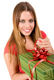 giving gift box Royalty Free Stock Image