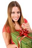 Giving gift box Royalty Free Stock Image