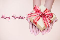 Giving gift box in with hands On special days  for special perso Stock Images