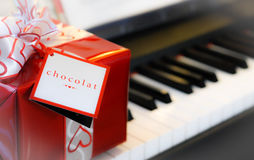 Giving the gift of chocolate. Stock Photography