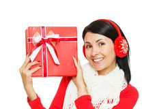 Giving a gift Royalty Free Stock Images