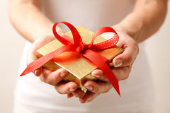 Giving a gift Stock Image