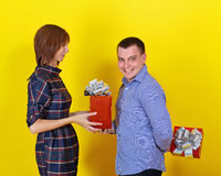 Giving Gifts Stock Photo