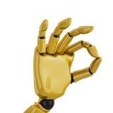 giving gold hand robotic Стоковые Фото