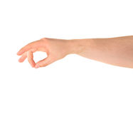 Giving hand gesture isolated Stock Photo