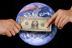Giving hand; global Stock Photos