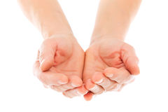 Giving hands isolated Royalty Free Stock Image