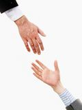Giving helping hand Stock Photos