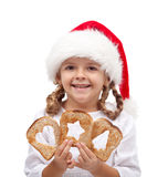 Giving hope to the needy at christmas time concept Stock Photography