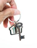 Giving house key Royalty Free Stock Images