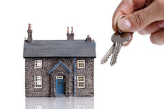 Giving house keys Stock Images