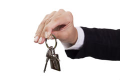 Giving house keys Stock Image