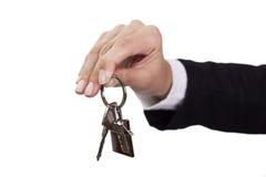 Giving house keys Stock Image