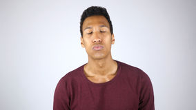 Giving a Kiss, Kissing Young Afro-American Man. High quality stock photography