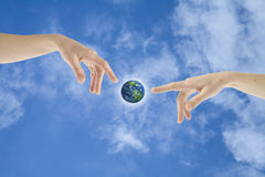 Giving live to Earth Royalty Free Stock Photo