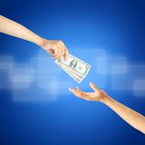Giving money Royalty Free Stock Photo