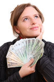 Giving money Royalty Free Stock Image