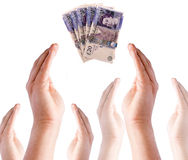 Giving Money Concept Royalty Free Stock Photography