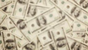 Giving Money. Money, Lots Of Hundred Dollar Bills stock footage