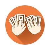 Giving money symbol Stock Photos