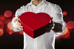 Giving my heart Stock Photography