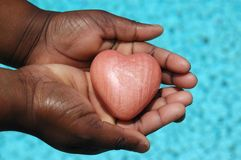 Giving my heart away Stock Image