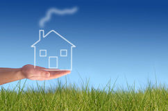 Giving new house. Royalty Free Stock Photo