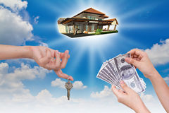 Giving new house Stock Photo