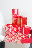 Giving present Royalty Free Stock Photography