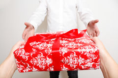 Giving present Royalty Free Stock Image