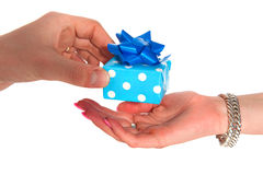 Giving a present Stock Photos