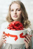 Giving present Royalty Free Stock Photos