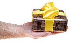 Giving present Stock Photo