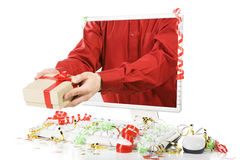 Giving present Stock Photography