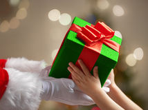 Giving present for child Royalty Free Stock Photos