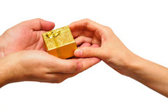 Giving present Stock Image